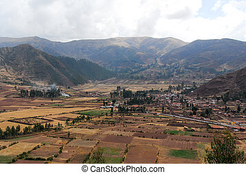 Sacred Valley of the Incas, Peru - View along the Cusco Road...