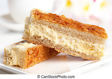 Almond Cake - Fingers of almond spongecake with a cream...