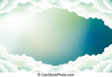 the sky in the middle clouds - Art vector illustration of...