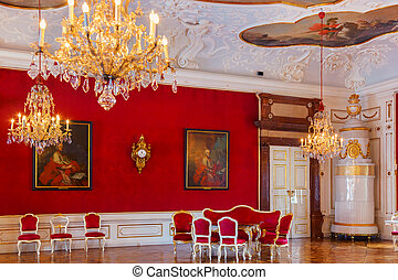 Interior of palace in Salzburg Austria