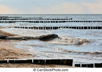 Baltic Sea beach - on the Baltic Sea beach at Heiligendamm