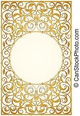 Decorative ornaments design in gold
