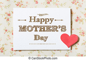 Happy Mothers Day card with floral background