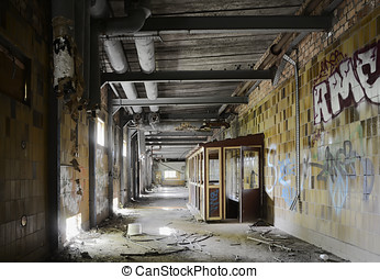 abandoned building - building of an abandoned disused...