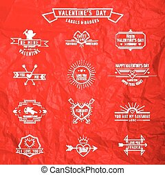 Valentine's Day - Set of Badges and Labels - in vector