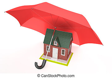 House security and protection concept 1 - house covered by...