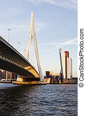 Erasmus Bridge in  Rotterdam, South Holland, Netherlands.