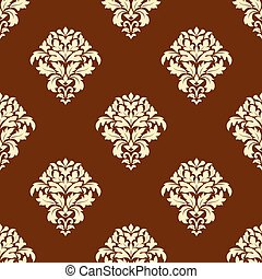 Seamless brown and beige pattern