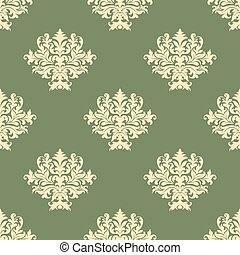 Foliate pattern with seamless baroque ornament - Foliate...