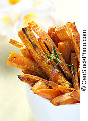 Sweet Potato Fries - Sweet potato fries with rosemary,...