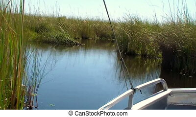 Boat trip okavango delta Botswana - Boat trip through the...