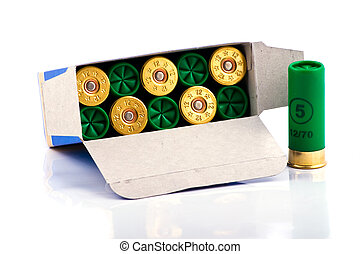 Hunting cartridges for shotgun 12 caliber in a box