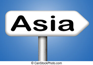 asia sign - asia for travel and tourism vacation destination...