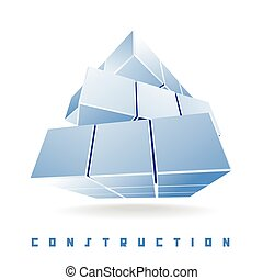 construction cube - abstract minimalist cube transformer....