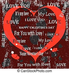 greetings in vintage style Lovers Vector set of 3 -...