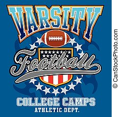 Varsity football college - american football vector for...