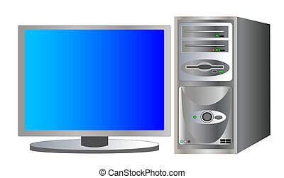 illustration of a home pc