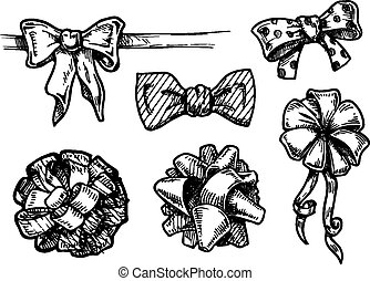 vintage bow-knots - vector illustration of vintage...