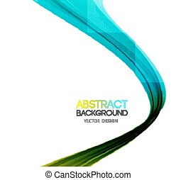 Vector Abstract curved lines background Template brochure...