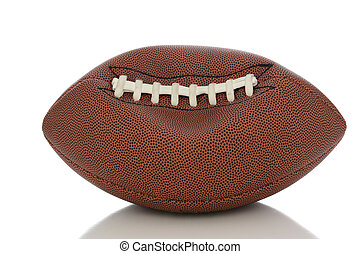 Deflated Pro Football - Closeup of an Professional American...
