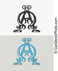 Alpha omega ornament - Alpha omega,Christian icon and...