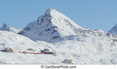 bernina express train departing - 01012015bernina...