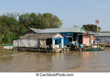 Tonle Sap Scenery - Tonle Sap lake scenery near Siem Reap