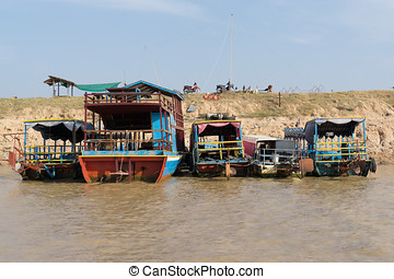 Tonle Sap Scenery - Tonle Sap lake scenery near Siem Reap.