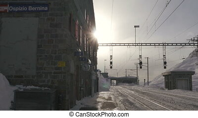 mountain train station bernina - 01012015bernina...
