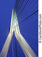 Erasmus Bridge in Rotterdam. Rotterdam, South Holland,...