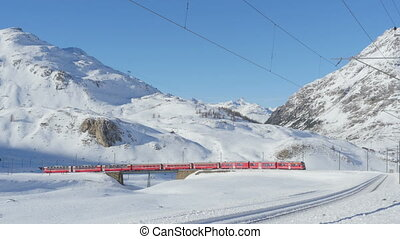 high mountain train bernina - 01012015bernina...