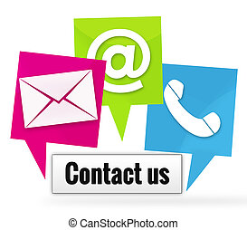 Contact Us Icons Signs - Contact Us