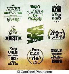 inspirational, e, encorajando, Citação,
