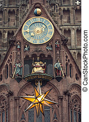 The Frauenkirche - Church of Our Lady with the clock - The...