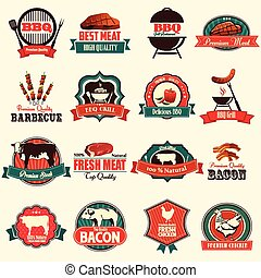 Barbecue icons - A vector illustration of barbecue icon sets