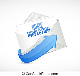 home inspection mail email illustration
