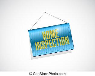 home inspection banner illustration design