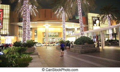 The Dubai mall entrance door - External view of Dubai Mall...