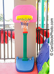 Basketball hoop make plastic for the kid.