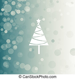 light blue background for winter with cristmas tree