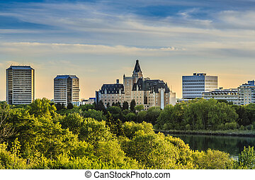 Saskatoon Landmark - The Bessborough Hotel in Saskatoon,...