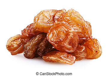 raisin - Heap of raisin on a white background. Clipping Path