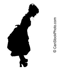 Gosurori Fashion Silhouette with Clipping Path over white.