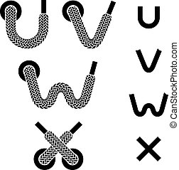vector shoelace alphabet lower case letters