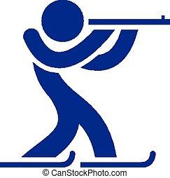 Biathlon icon - Winter sports icons set - Biathlon icon