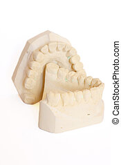 dental impression 6 - dental impression isolated against...