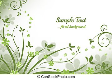 Floral background - Abstract floral background, vector...