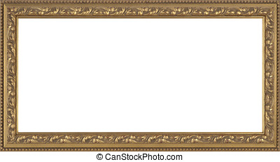 Gold Picture frame - art picture frame golden