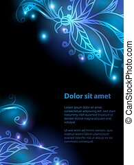Shiny floral background for your design. Can be used for...