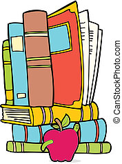 book worm vector image graphic scalable to any size.
